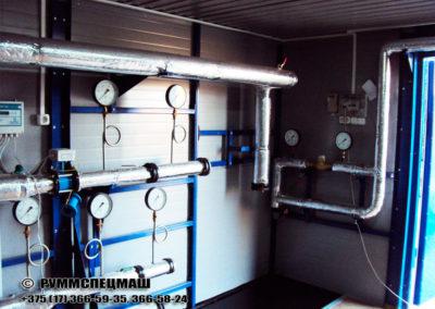 Автоматизированный (блочный) тепловой пункт (БТП) предназначенный для коммерческого учета воды и тепловой энергии, автоматического управления значениями параметров теплоносителя подаваемые в систему отопления (СО), горячего водоснабжения (ГВС) для оптимизации процесса теплопотребления