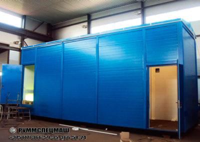 Павильон модульный для размещения комплектных трансформаторных подстанций, высотой 4м.