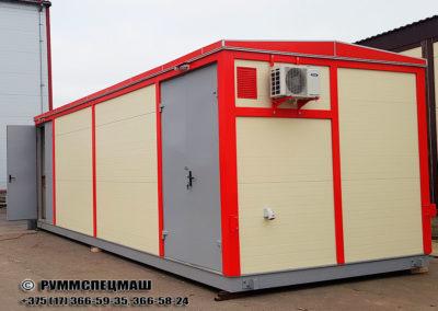 Модульное здания для размещения электротехнического оборудования. Два сочлененных блок бокса предназначенные для траспортировки по дорогам общественного пользования.