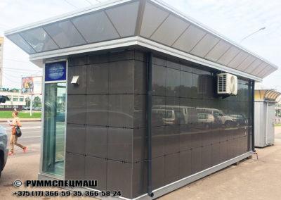 Павильон модульный Белсоюзпечать размером 3500*7800*3400 мм.