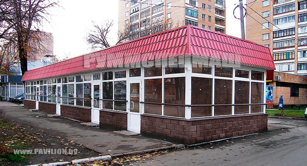 Модульное здание кафе, ресторана