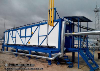 Установка предварительной подготовки газа (УППГ) - предназначена для сбора газа, поступающего из скважин, и его первичной подготовки