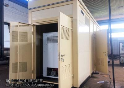 Блочно-модульное здание для размещения комплектной трансформаторной подстанции.