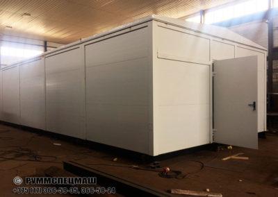 блочно-модульное здание ЗРУ 10 кВ, совмещенное с ОПУ